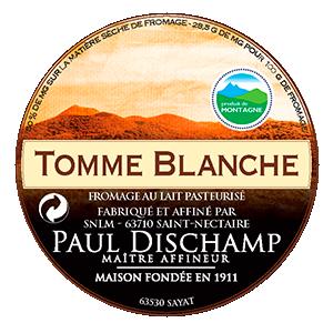PAUL DISCHAMP - Tomme de montagne blanche - Etiquette