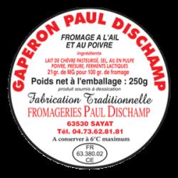 PAUL DISCHAMP - Gaperon au lait de chèvre - Etiquette