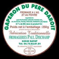 PAUL DISCHAMP - Gaperon au lait de vache - Etiquette
