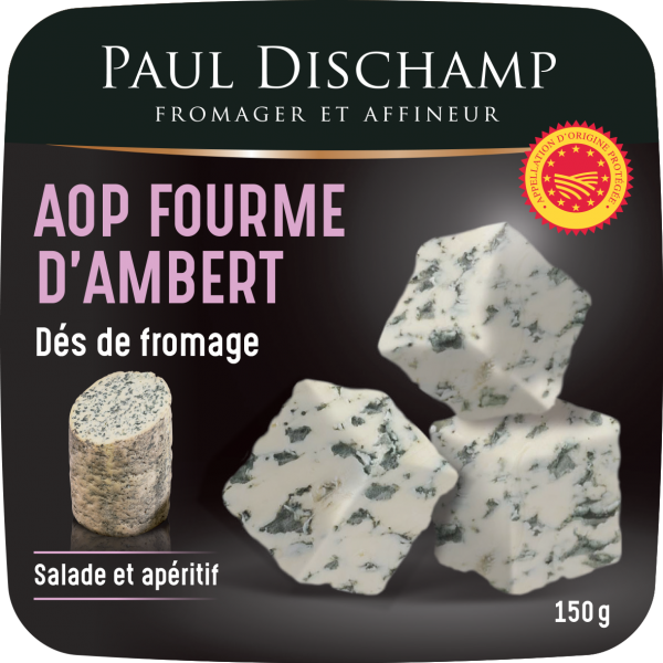 Fourme d'Ambert PDO cheese cubes